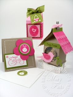 card, treat holder, birdhouse