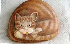 Atelier Malerhaus – Pintura Decorativa: Pedras Pintadas cat rock
