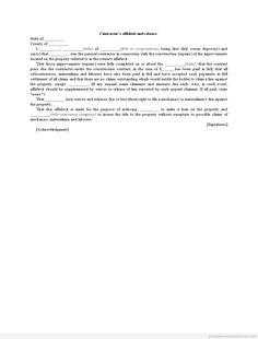 Printable Sample Affidavit Re Title Corporation Form  Generic