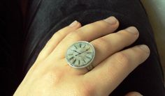 DIY Steampunk clock ring.