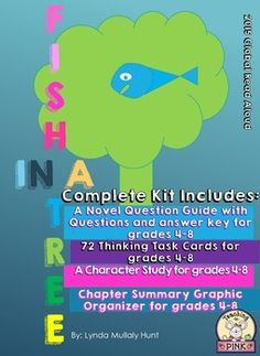 Welcome to a 2015 Global Read Aloud Novel Fish in a TreeNovel Questions… Reading Strategies, Reading Activities, Classroom Activities, Book Club Books, The Book, Book Clubs, Fish In A Tree, Higher Order Thinking, Common Core Reading