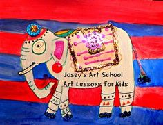 This lesson is about the history of the history of decorating and adorning Elephants in India. Welcome to my series of creating an art project while learning history of fascinating topics. This lesson complies many of the Common Core Standards and these are spelled out in detail through the lesson. Elephant India, Elephant Art, Art History Lessons, Art Lessons For Kids, Common Core Ela, Common Core Standards, Joy Art, Art School, Elephants