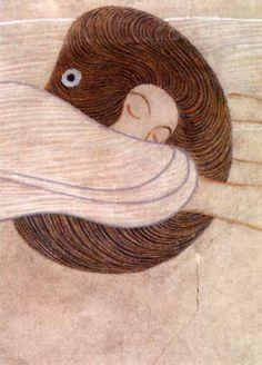 Beethoven Frieze .  Gustav Klimt, 1902