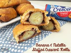 Banana and Nutella Stuffed Crescent Rolls