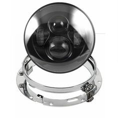 "63.80$  Buy now - http://aliqwk.worldwells.pw/go.php?t=32670884913 - ""7"""" 40W Led Headlight with Silver 7 Inch Headlamp Bezel Trim Mounting Bracket Ring for Harley Davidson or any other Cruiser Bike"""