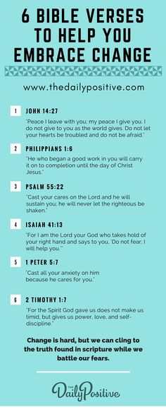 When fear steps in, we must reach for TRUTH. So grab your Bible and start underlining the verses in this graphic so we can remind ourselves not to fear change!