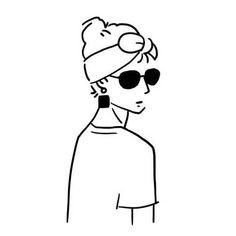 #Portfolio (시각디자인 포트폴리오) - 그래픽 디자인 · 일러스트레이션, 그래픽 디자인, 일러스트레이션, 그래픽 디자인, 브랜딩/편집 Doodle Drawings, Easy Drawings, Doodle Art, Character Illustration, Illustration Art, Minimalist Drawing, Minimalist Icons, Tattoo Magazine, Arte Do Kawaii