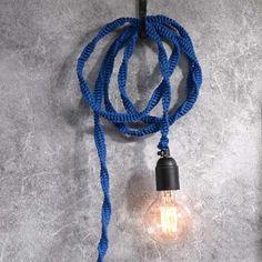 Täck en lampsladd med makramè
