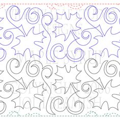 MAPLE SYRUP | Machine Quilting Design | Digital | ClothWerx