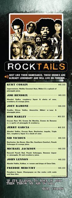 Backstage Nightclub & Sports Bar - Rocktails Menu