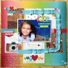 Hello Gorgeous by Latrice Murphy - Scrapbook.com - Made with Simple  Stories Good Day Sunshine collection
