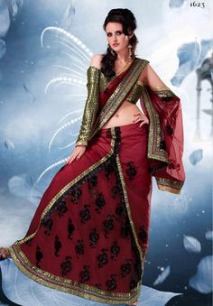 A huge sparkling collection of Indian ethnic wear in our attention-grabbing online showroom whose variety is growing every month. @ Shop online at  http://jugniji.com/sarees/charming-sarees/new-charming-sarees-1318.html