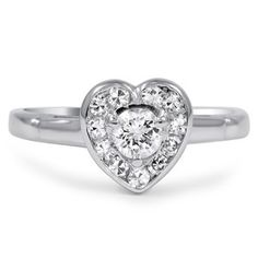 14K White Gold The Corazon Ring
