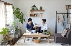 Global Inspiration: Japanese Rooms from Muji X Idee Studio Living, My Living Room, Home And Living, Living Spaces, Muji Home, Muji Style, Japanese Apartment, Japanese Minimalism, Small Condo