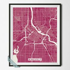 Minneapolis Print Minnesota Poster Minneapolis by VocaPrints