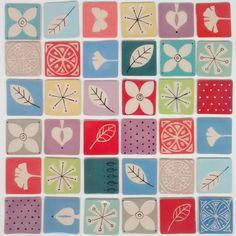 Ceramic memory. Memory made of ceramics. #handmade #keramiek #ceramics #memory #memoryspel #kleurindekamer by kleurindekamer_ceramics