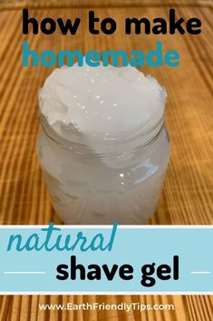 Store-bought shaving cream can contain all types of dangerous ingredients. Make your bathroom healthier and more eco-friendly by making this homemade shave gel. Natural Shaving Cream, Homemade Shaving Cream, Mens Shaving Cream, Cool Diy, Homemade Coffee Scrub, Natural Beauty Recipes, Shave Gel, Natural Cleaning Products, Natural Products