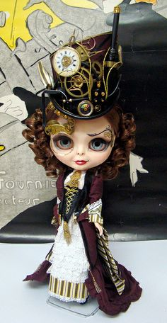 Steampunk Blythe. Curated by Suburban Fandom, NYC Tri-State Fan Events: http://yonkersfun.com/category/fandom/
