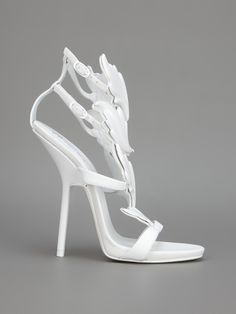 Giuseppe Zanotti Design - Sandália branca. 7