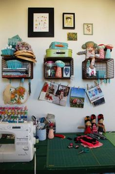 This craft room ... such inspiration! http://thestir.cafemom.com/home_garden/1605/Cakies_Show_Tell_Home_Tour?utm_medium=sm&utm_source=pinterest&utm_content=thestir