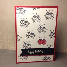 Soms heb je niet veel nodig om een mooi kaartje te maken, deze lieveheersbeestje beetje rode kleur en je krijgt zo een mooi kaartje.   Gr...