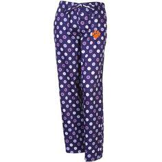 Clemson Tigers Ladies Iconic Sateen Pajama Pants - Purple#Fanatics