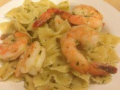roasted shrimp scampi. Easy dinner with frozen shrimp.