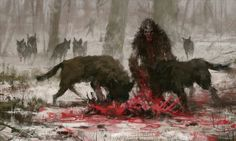 wild hunt - concept art from my 'just another day at work' 'series, hope you like it, cheers! Dark Fantasy, Medieval Fantasy, Fantasy World, Fantasy Kunst, Fantasy Art, Fantasy Creatures, Mythical Creatures, Khadra, Vampires And Werewolves