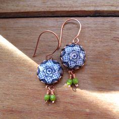 Handmade Earrings, Mexican jewelry, Decorative plate design earring, Drop, Dangle earrings, Native jewelry, Southwestern style by CorinaCrooks on Etsy https://www.etsy.com/listing/170496230/handmade-earrings-mexican-jewelry