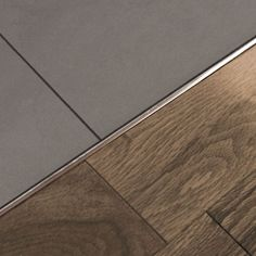 Ceramic Floor Tile Transition Strips - Installing ceramic tile flooring can be done by anyone with good eyesight (or glasses Timber Flooring, Laminate Flooring, Kitchen Flooring, Hardwood Floors, Flooring Ideas, Ceramic Flooring, Kitchen Wood, Grey Flooring, Kitchen Tiles