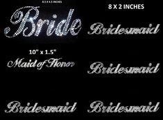 LOT Of 12 Rhinestone Wedding Party Transfers 1 by BlingShirtWorld, $27.99