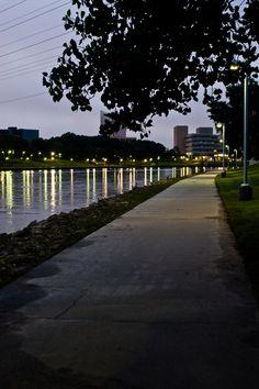 Path along the Arkansas river in Wichita, Kansas