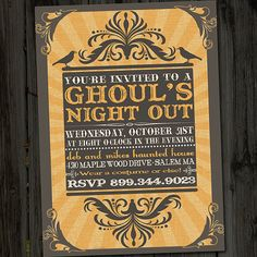 Ghoul's Night Out Vintage Retro Halloween Printable by partymonkey, $15.00