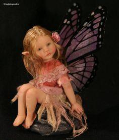 Weefairytales fairies fae OOAK art doll baby fairy sculpture in Dolls & Bears, Dolls, Art Dolls-OOAK Elves And Fairies, Clay Fairies, Flower Fairies, Fairies Garden, Baby Fairy, Love Fairy, Beautiful Fairies, Beautiful Dolls, Polymer Clay Fairy