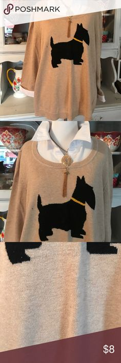 🌸 + Plus size top 🌸 + Plus size top. Cute little dog on the front. Size 2x. Kim Rogers Tops