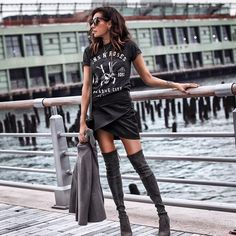 115 Stylish Spring Outfits To Wear for Women 2019 - Page 107 of 115 - Soflyme Rock Outfits, Hipster Outfits, Edgy Outfits, Spring Outfits, Fashion Outfits, Insta Outfits, Fashion Edgy, Party Outfits, Womens Fashion