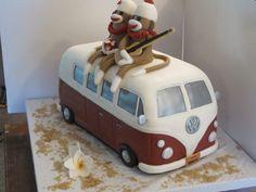 vw bus wedding cake