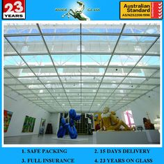 3-19mm Glass Roofing Panels