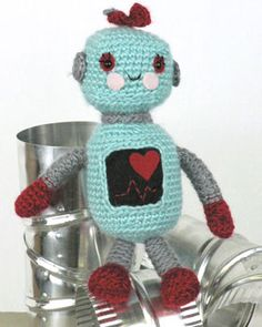 With its crocheted construction and sweet details, this Robot Amigirumi is a great gift for kids of all ages.