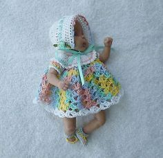 "Crochet dolls Clothes to fit  6.5""  OOAK BABY"