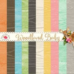Woodland Baby Wooden Paper Set ✿ Join 7,500 others. Follow the Free Digital…