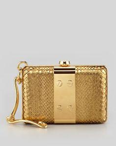 Tom Ford Natasha Python Wristlet Minaudiere, Gold - Neiman Marcus
