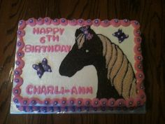 Pink and Purple Horse Cake made by momma @Susie Ward