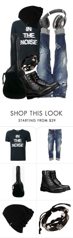 """Guitar player"" by jez-alex ❤ liked on Polyvore featuring Anrealage, Dsquared2, Yves Saint Laurent, Patagonia, Beats by Dr. Dre, men's fashion and menswear"