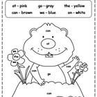 kids love to color! groundhog color by sight words