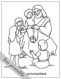LDS Jesus Christ Coloring Pages | Year of FHE: 2011 - Week 12: Friendship