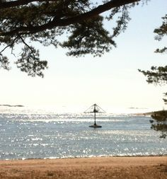 Europes only water carousel at beach Plagen in the sunny south of Finland - Hanko ❤