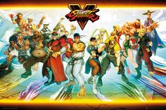 Street Fighter 5 Characters - Official Poster