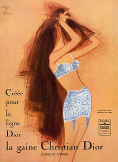 By  René Gruau, 1 9 6 4, Christian Dior (Lingerie).