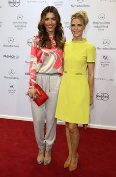 Pin for Later: Die Stars machen Berlin zum Mode-Mekka bei der Fashion Week Annett Möller und Tanja Bülter bei der Schau von Marc Cain